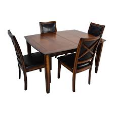 75 off tall extendable dining room table set tables buy raymour and flanigan raymour flanigan denver 5 piece extendable dining set online