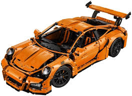 lego honda element porsche 911 gt3 rs replica by lego technic launched