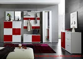 Schlafzimmer Komplett M El Fundgrube Garderoben Set Garderobe Set Rot Weiß 2120025 04