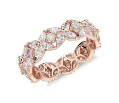 rings online gold images Monique lhuillier petal garland diamond eternity ring in 18k rose