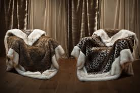 Faux Fur Blankets And Throws Furniture Leopard And White Faux Fur Throws