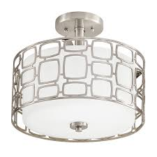 Kichler Lighting Lights Shop Kichler Sabine 12 99 In W Brushed Nickel Etched Glass Semi