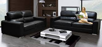 Sofa Bed Sets Sale Brilliant Contour Midnight Black Reclining 3 2 Seater Leather Sofa