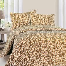 Giraffe Bed Set Lavish Home 1200 Series 4 Giraffe 75 Gsm King Microfiber