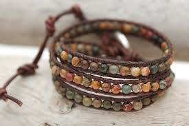beaded bracelet leather images Leather and bead wrap bracelet crafthubs jpg