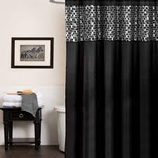Dc Shower Curtain Bed Bath N More Classic Black And Silver Tile Patchwork Shower