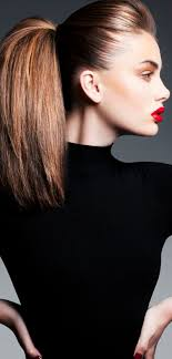 shoulder hairstyles with volume full volume ponytail slick hair hairstyles pinterest