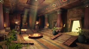 Ancient Egypt Interior Design Artstation Egyptian Temple Rene Fisher