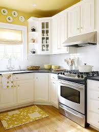 yellow kitchen ideas kitchen dazzling yellow and white painted kitchen cabinets