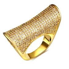 aliexpress buy fashion big size 18k gold plated men find more rings information about hy 18k real gold white gold