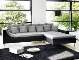 couch schwarz grau eckcouch madeleine 326x213 cm hellgrau schwarz wohnlandschaft sofa
