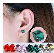 ear candy earrings korea sale water cube shaped earrings ear stud earring