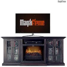 tyche espresso pine wood media center electric fireplace wall