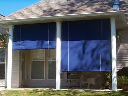 outdoor roll up shades la custom awnings