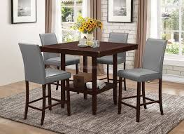 High Bar Table Set Dining Tables 5 Piece Counter Height Dining Set Black Mainstays