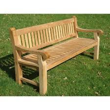 heavy duty teak 1 8m park memorial bench