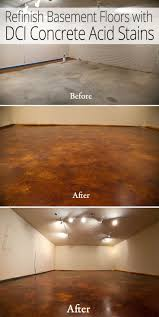 Painting A Basement Floor Ideas by Best 25 Concrete Basement Walls Ideas On Pinterest Basement