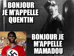Nazi Meme - bonjour je m appelle quentin nazi meme on memegen