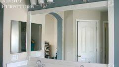 bathroom mirror trim ideas tremendous bathroom mirror trim idease silver framed mirrors