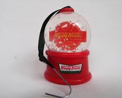 krispy kreme donuts snow globe tree ornament approx 2