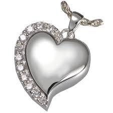 crematory jewelry shine heart pet cremation jewelry