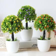 hyson shop decorative flower mini bonsai pots planters artificial