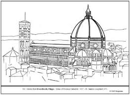 brunelleschi florence cathedral dome coloring lesson ideas