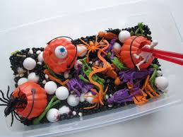 halloween sensory tub for multiple ages no time for flash cards