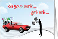 car racing birthday cards from greeting card universe