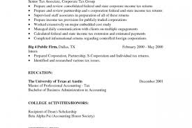 Senior Accountant Resume Examples by Tax Associate Resume Reentrycorps