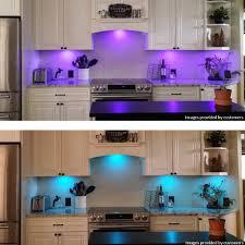 kitchen under cabinet lighting kit led bar fixture warm white leds