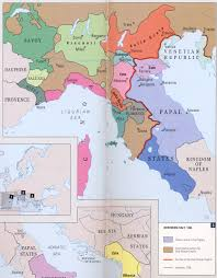 Map Of Northern Italy by Formation Of Italy