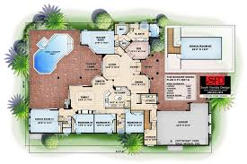 south florida designs mediterranean 1 floor 4 bedroom house plan