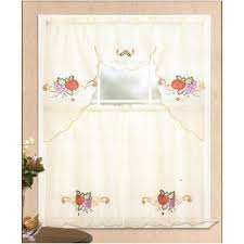 Grapes Kitchen Curtains Vineyard Grapes Embroidered Kitchen Curtains Valance By