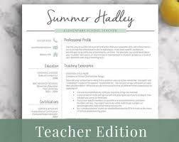 teaching resume template elementary resume template for word pages 1 3