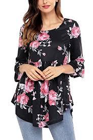 secret blouses secret womens 3 4 sleeve floral blouses casual tshirts