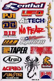 motocross bike makes amazon com motocross dirt bike decal kit logo sticker decor no