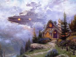 kinkade s cottage paintings upgraded with wars