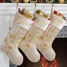 christmas stockings sale personalized ivory and gold jeweled christmas stockings yuletide