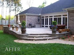 Raised Paver Patio Charming Backyard Paver Patio Outdoor Building Ideas Backyard