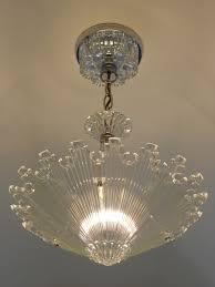 Ceiling Light Fixtures C 30 U0027s Vintage Art Deco Ceiling Light Fixture Chandelier American
