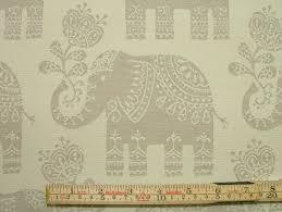 Curtain Upholstery Fabrics Elephant Natural Linen Woven Cotton Jacquard Curtain Upholstery