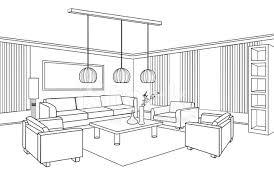 interior outline furniture flat design stock photos freeimages com