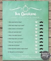 bridal shower question mint watercolor ten questions bridal shower wedding bridal