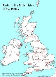 Sheffield England Map by Uk Radio History 1 Marconi 2lo Bbc And Radio Normandy By Mike Smith