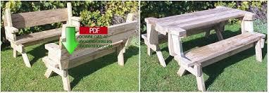 folding picnic table bench plans pdf 24 002 folding picnic table and bench seat combination picnic table