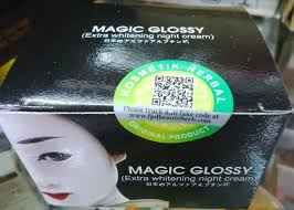 Wajah Magic Glosy jual magic glossy exstra whitening japan pemutih wajah aman