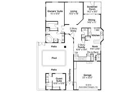 Mediterranean House Plans Coronado 11 029 Associated Open Floor