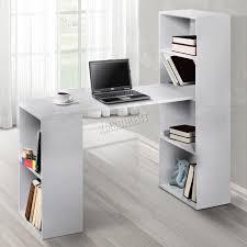 foxhunter multifunction computer desk 2 large shelves home office