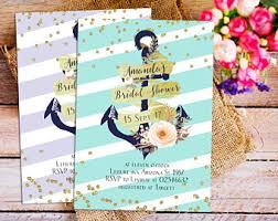 nautical bridal shower invitations nautical bridal shower invitation cruise themed invitation